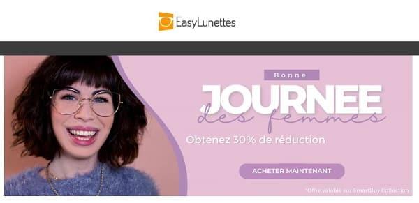 30% de remise supplémentaire sur des paires de lunettes smartbuy pour femme