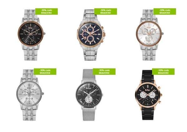 30% de remise supplémentaire sur les montres lee cooper