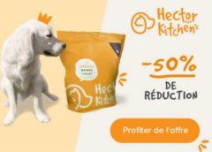 50% de remise sur votre commande de croquettes pour chien hector kitchen