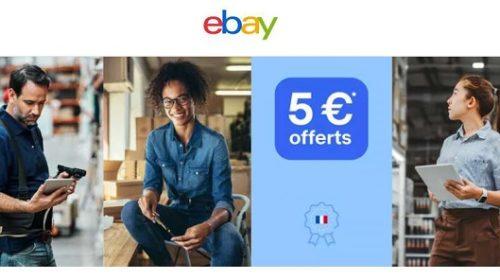 5€ de remise sur vos achats chez un vendeur français sur ebay