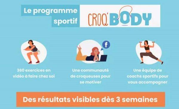 abonnement fitness en ligne croq'body by m6 pas cher