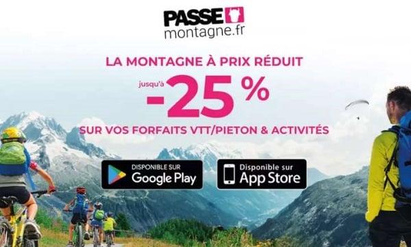 activités en montagne moins chers carte reduction ski passe montagne