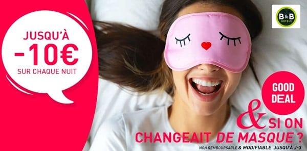 good deal hotels b&b jusqu'à 10€ sur chaque nuit réservée en ligne