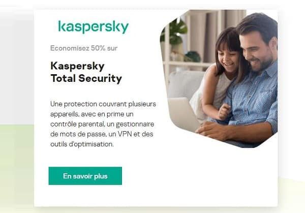 kaspersky 50% de réduction sur kaspersky total security