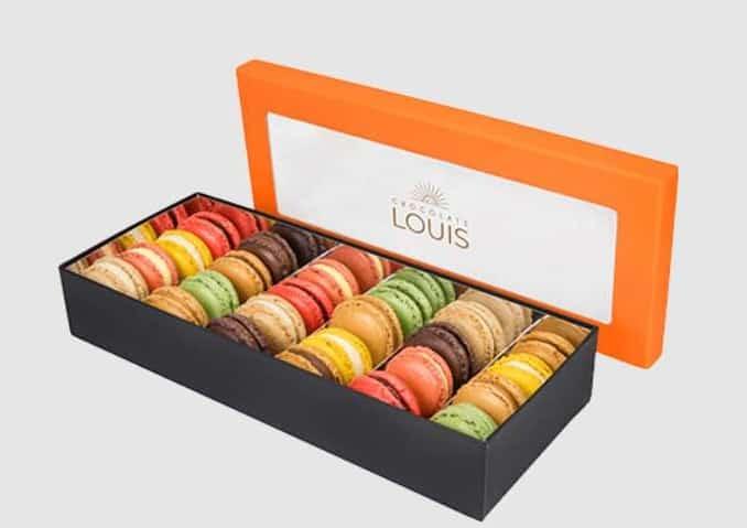 livraison gratuite sur les commandes d'assortiments de macarons de chocolats louis