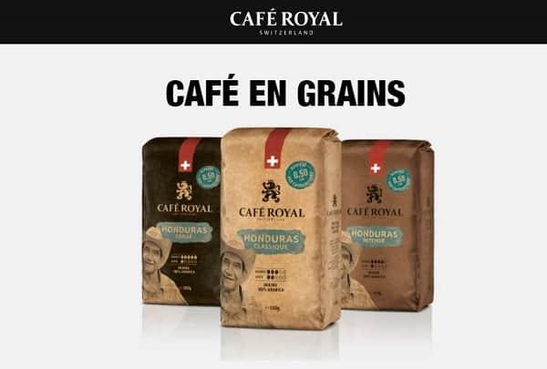 offre café en grains café royal