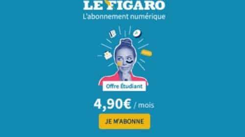 offre spéciale étudiants abonnement le figaro numérique à 4,90€