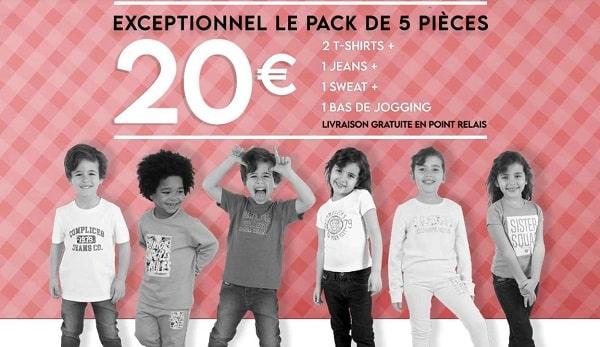 pack enfant complice 5 pièces pour 20€ port inclus