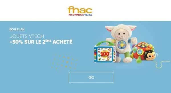 promotion fnac 1 jouet vtech acheté= le deuxième à 50%