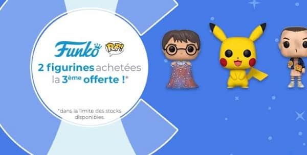 promotion funko pop! 2 figurines achetées, la troisième offerte