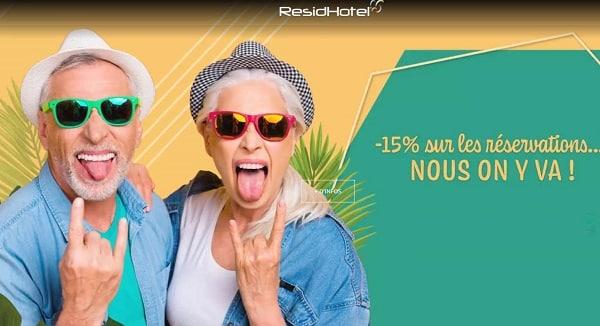 réservez maintenant et obtenez 15 % sur votre réservation dans un appart hôtel residhotel