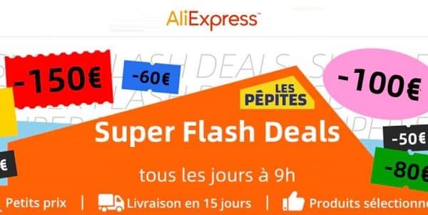 super flash deal aliexpress des nouvelles offres tous les jours + remise supplémentaire