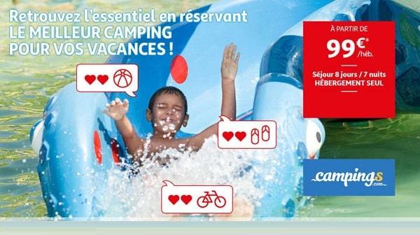 vacances en camping a partir de 99€ vos vacances de 8 jours en réservant pendant la vente flash auchan voyages