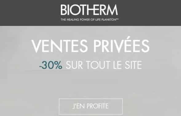 vente privée biotherm 30% sur tout le site
