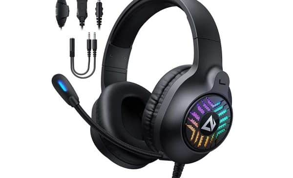 casque gaming son surround avec micro à réduction de bruit aukey gh x1