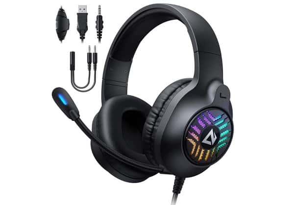 casque gaming son surround avec micro à réduction de bruit aukey gh x1