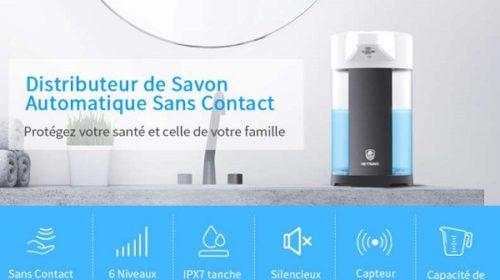 distributeur de savon automatique avec détecteur infrarouge metrans 400ml