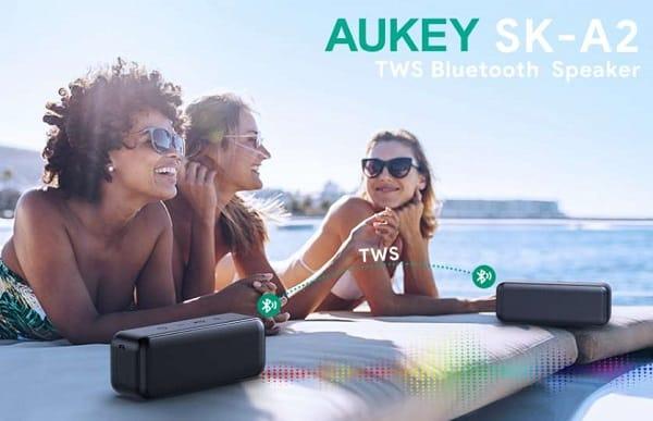 enceinte true wireless stéréo aukey sk a2 bluetooth