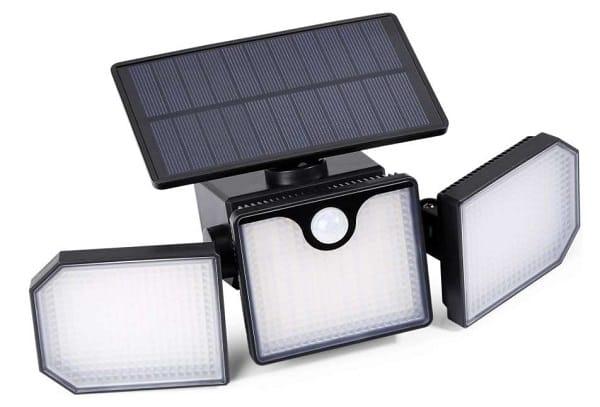 lampe solaire extérieur 230 led (270 degrés) avec détecteur de mouvement elekin