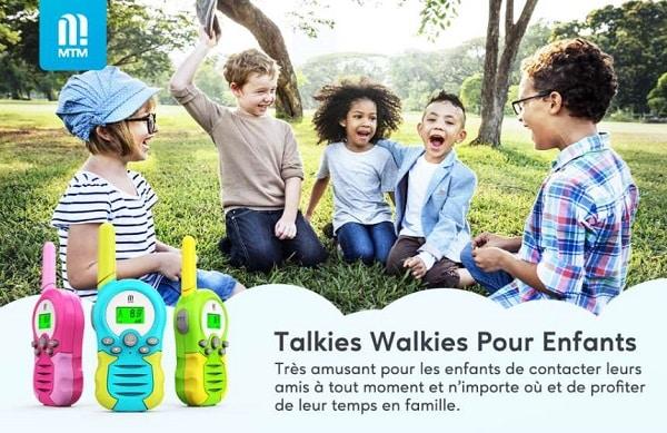 lot de 2 talkiewalkies pour enfant mtm piles incluses