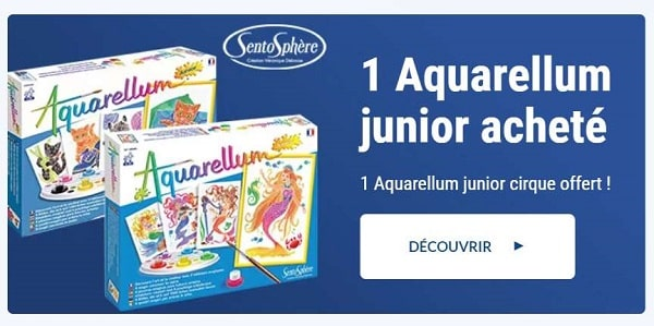 1 aquarellum sentosphere acheté = 1 aquarellum junior cirque offert