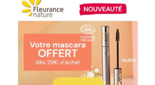 1 mascara offert dès 29€ d'achat sur fleurance nature