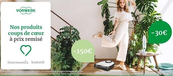 30€ de remise sur l'aspi'main kobold & 150€ sur le robot aspirateur kobold vr300