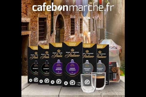 50€ de commande de café sur cafebonmarche = 2 verres à double paroi de 260 ml offerts