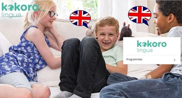 abonnement méthode initiation langue anglaise kokoro lingua pour les 3 et 8 ans moins cher
