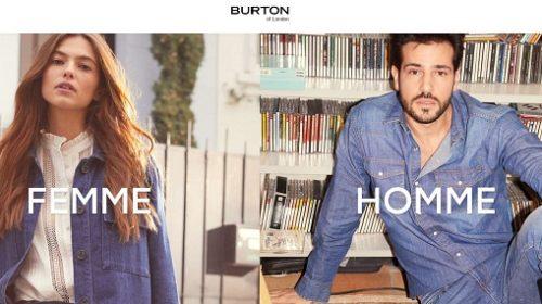 burton of london 20% sur la nouvelle collection 50% sur les fins de collection