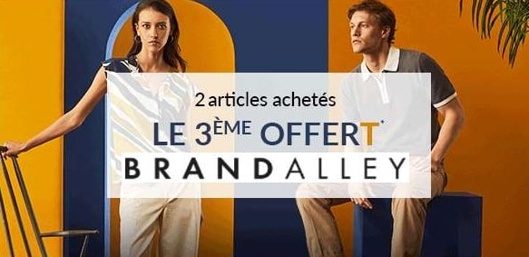 le 3éme article gratuit sur brandalley