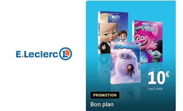 offre dvd enfant leclerc 2 dvd achetés = 10€