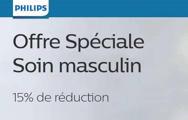offre spéciale soin masculin réduction supplémentaire sur les rasoirs et tondeuses philips
