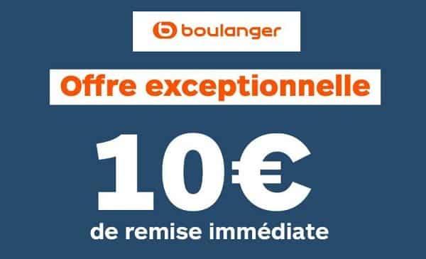 offre du weekend boulanger 10€ de remise par tranche
