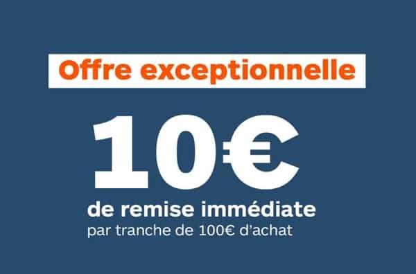 offre du weekend boulanger 10€ de remise par tranche de 100€