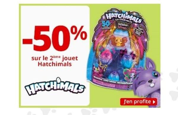 offre spéciale hatchimals 1 acheté = 50% sur le second maxitoys