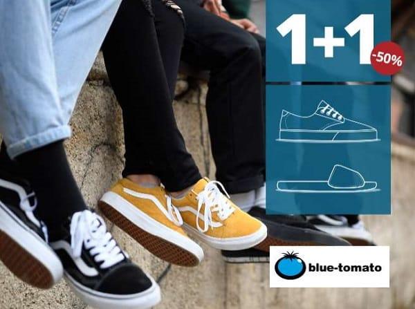 offre spéciale chaussures sur blue tomato 1 paire achetée = l'autre à moitié prix