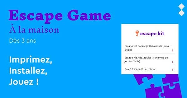 vente privée escape kit pour faire votre escape game à la maison