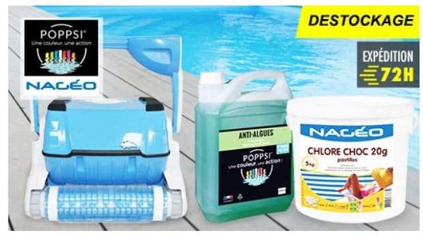 vente privée accessoires et produits pour entretien de piscine