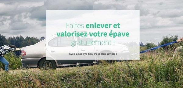 obtenez le montant de reprise de votre vieille voiture pour la casse sur goodbye car