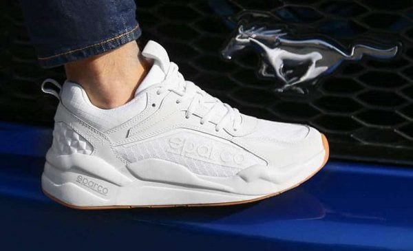 paire de sneakers sparco sp fx full white