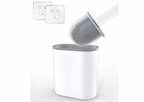 promotion brosse à wc silicone antibactérien avec support aitsite