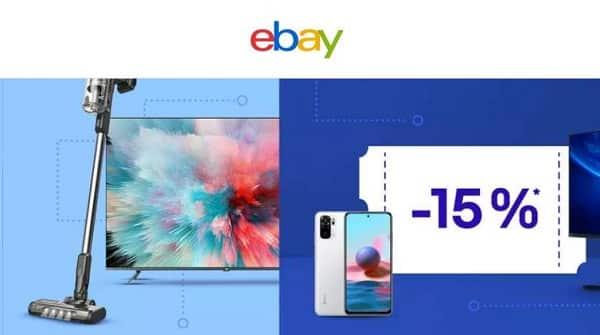 15% de reduction sur une sélection high tech, informatique, smartphone sur ebay