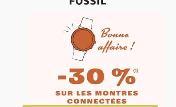 30% de remise sur les montres connectées homme et femme fossil