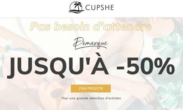 5€ de remise sur l'achat de maillot de bain cupshe