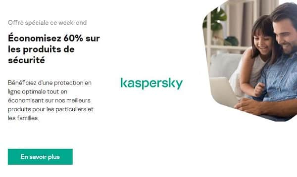 60% de remise sur toutes les licences kaspersky