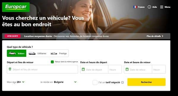 bon plan location de voiture en ligne 16€ de remise sur europcar