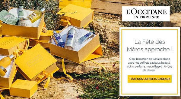 fête des mères livraison domicile gratuite sur l'occitane en provence