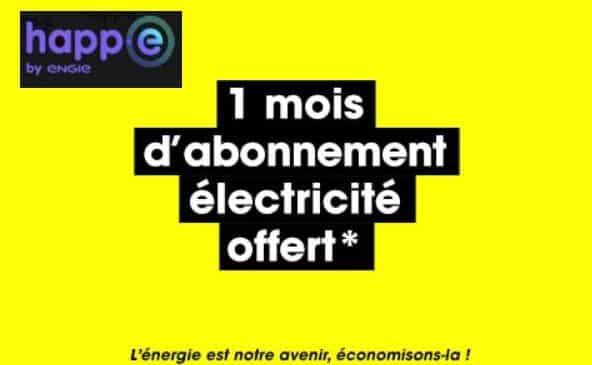fournisseur d'électricité happ e par engie profitez de 1 mois d'abonnement offert