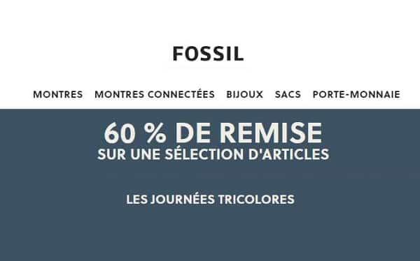 les journées tricolores de fossil 60% de remise